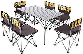 Camping tafels en stoelen